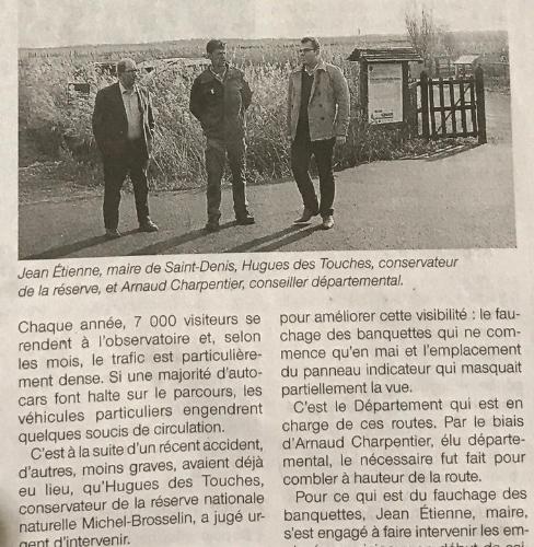 Saint-Denis-du-Payré : Sécurisation de l'accès à la réserve naturelle