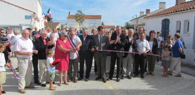 Le centre-bourg de Sainte Radégonde des noyers offre un nouveau visage