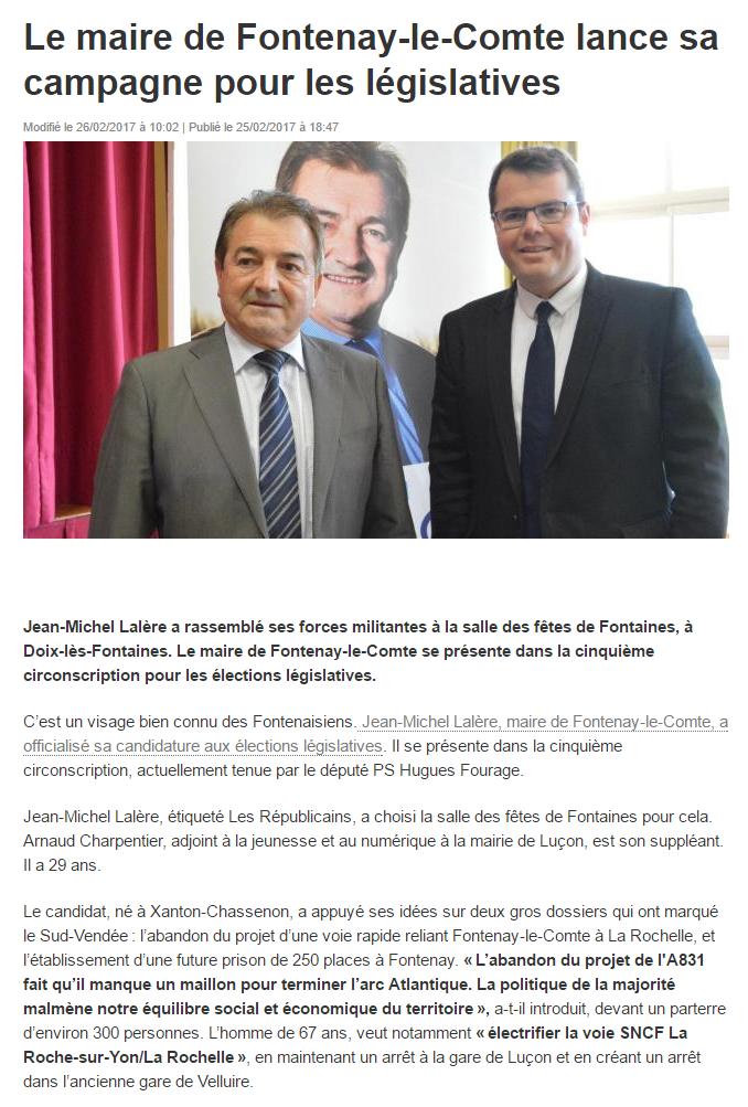 Arnaud Charpentier Jean Michel Lalère Legislatives 2017