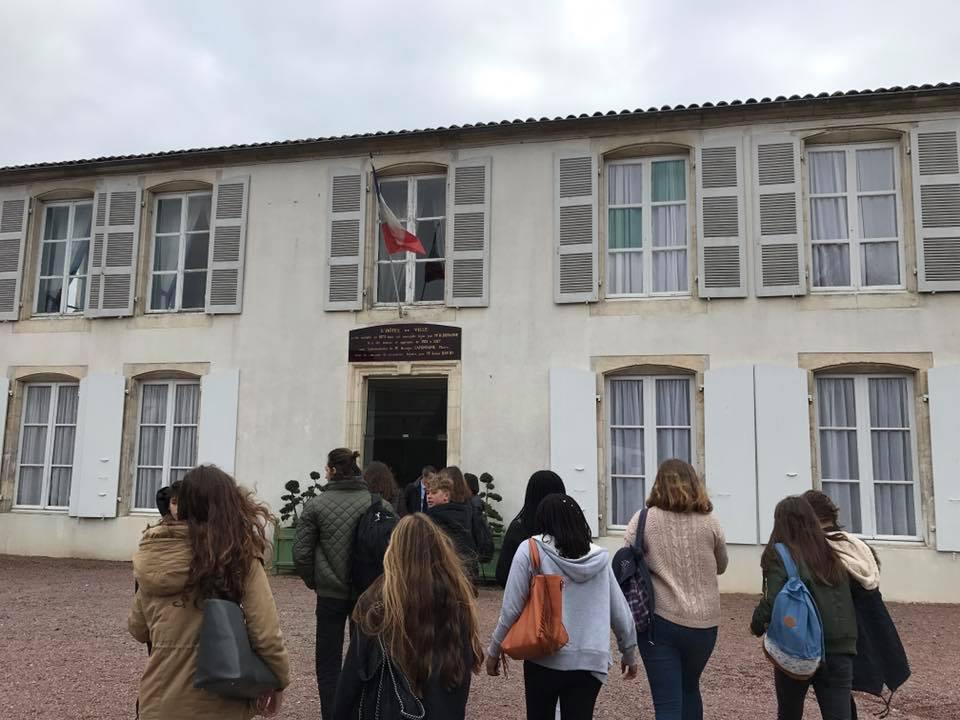 Accueil à la mairie de Lucon des correspondants anglais
