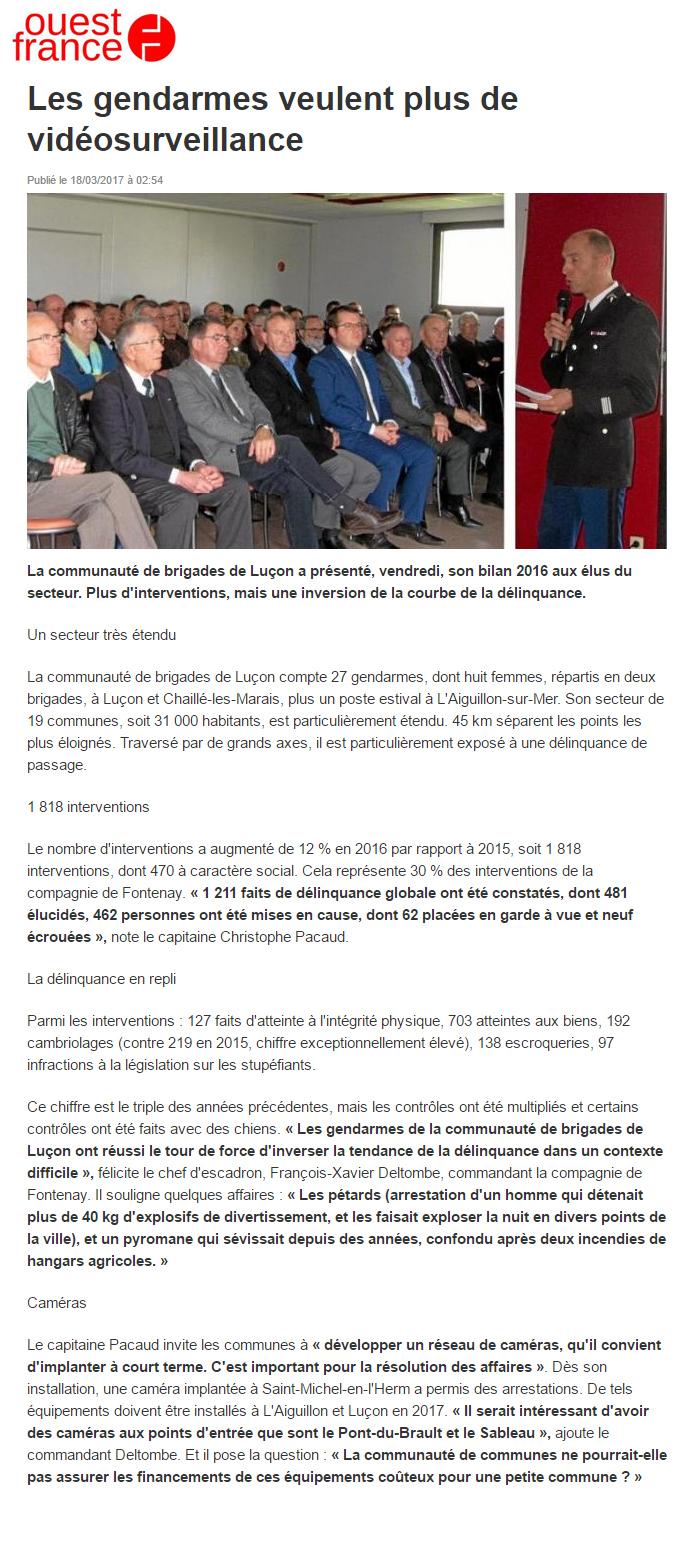 Arnaud charpentier avec Les gendarmes de Luçon